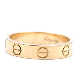 Pink 18k Gold Love 3.5mm Wide Size 49 5 Ring